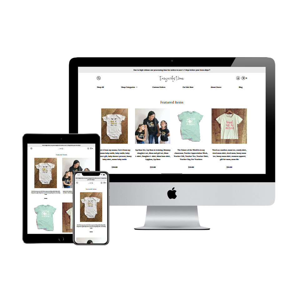 designs by doree woocommerce ecommerce website