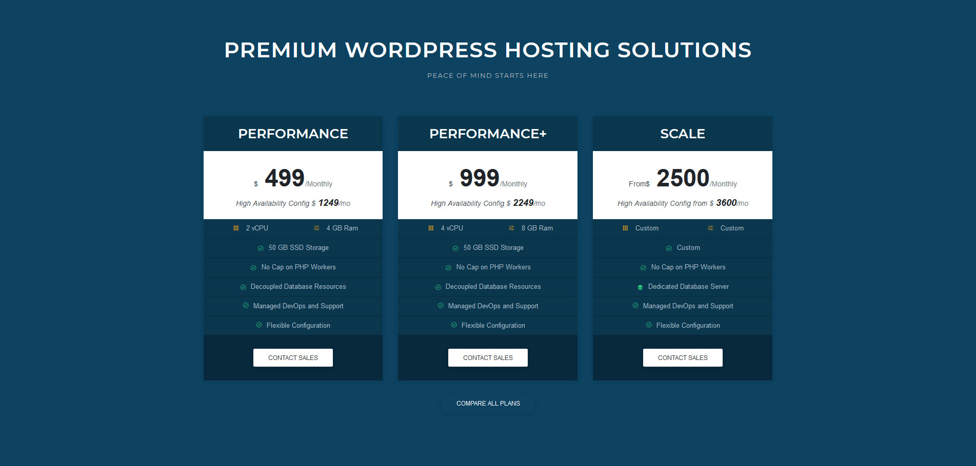 pagely premium hosting plans